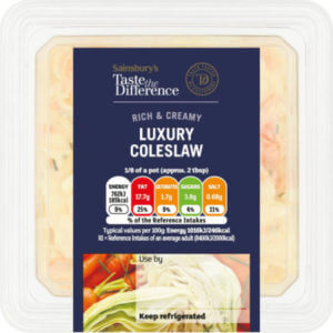Taste the difference coleslaw