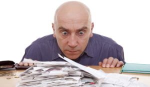 Man with receipts