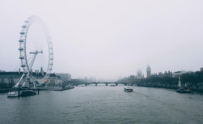 London Eye cloudy day