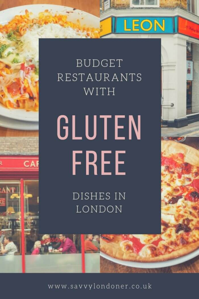 Gluten Free dishes in London