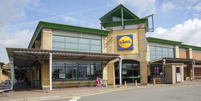 Lidl supermarket in the UK