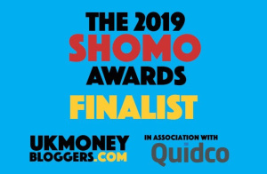 UK Money bloggers awards finalist 2019